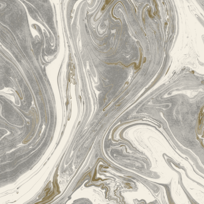 Gray & Gold Marbled Paper Placemats | Set of 30