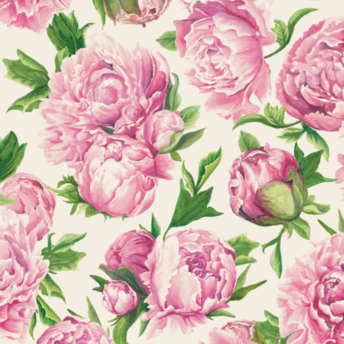 Paper Placemats | Peonies in Bloom | Set of 24