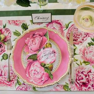 Paper Placemats | Peonies in Bloom | Set of 24 available at Bench Home