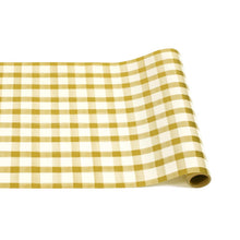 Load image into Gallery viewer, Table Runner | Gold Painted Check