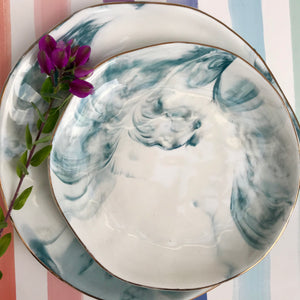 Marbled Salad Plate | 3 Colors available at Bench Home