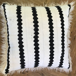Cream & Black Zig Zag Pillow available at Bench Home
