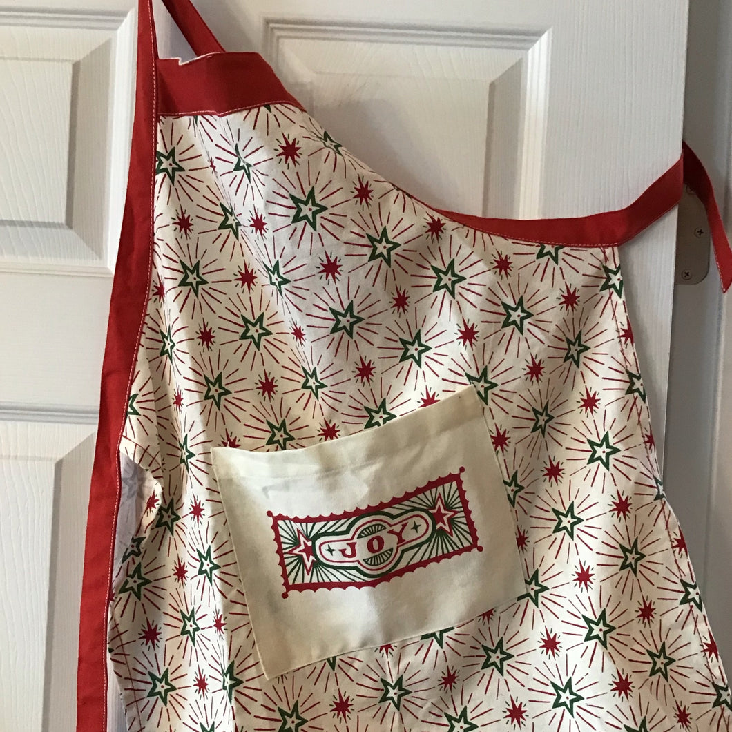 "Cotton Child Apron ""Joy"""