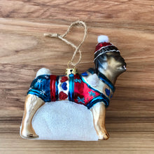 Load image into Gallery viewer, Bundled Up Dog Ornament | 4 Styles