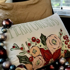 """Merry Christmas"" Pillow available at Bench Home"