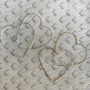 Heart Hoop Earrings | 2 Styles available at Bench Home