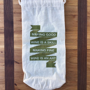 Cotton Wine Bags | 3 Styles available at Bench Home