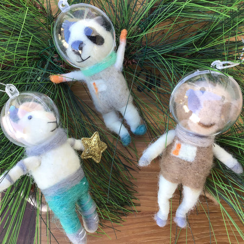 Animal Astronaut Ornament | 3 Styles