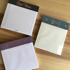 Gold Foil tear pad note book | 3 styles available at Bench Home