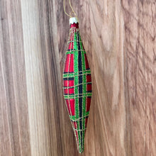 Load image into Gallery viewer, Tartan Spindle Ornament | 6 Colors