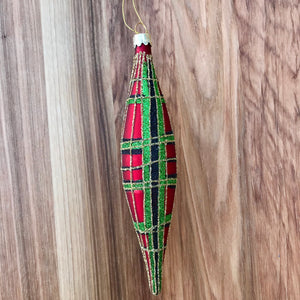 Tartan Spindle Ornament | 6 Colors available at Bench Home