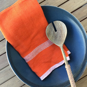 Laundered Linen Orange Tea Towels | Set of 2 available at Bench Home