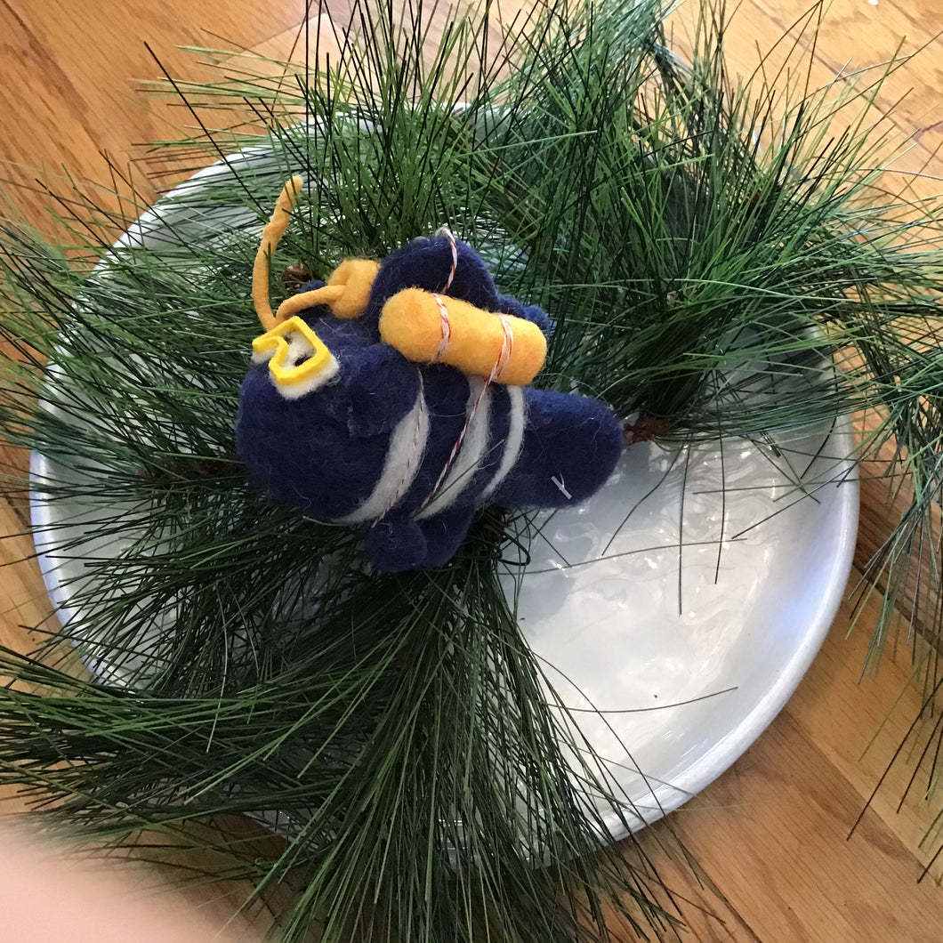Felted Scuba Ornaments | 2 Styles