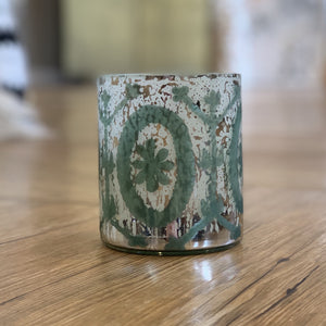 Etched Mercury Glass Votive Holder available at Bench Home