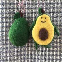 Load image into Gallery viewer, Felt Avocado Ornament | 2 Styles