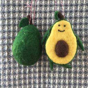 Felt Avocado Ornament | 2 Styles available at Bench Home