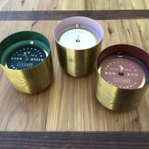 Tiny Tinsel Glass Candles | 3 Scents