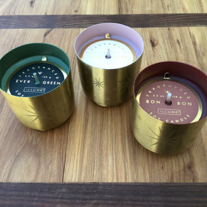 Tiny Tinsel Glass Candles | 3 Scents available at Bench Home
