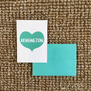 Kensington Heart Greeting Card available at Bench Home