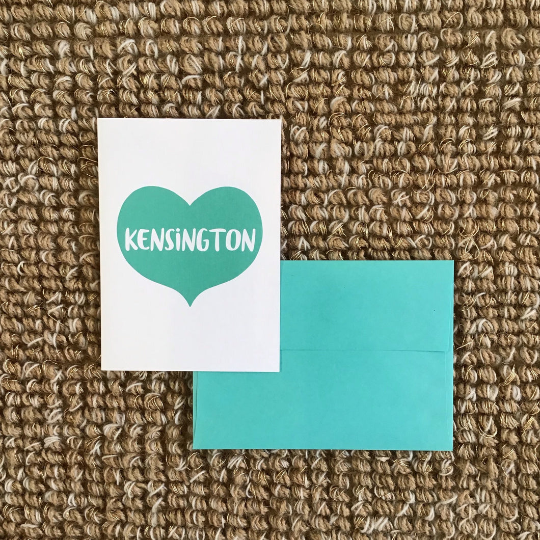 Kensington Heart Greeting Card