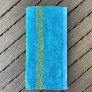 Laundered Linen Aqua Napkins | Set of 4 available at Bench Home