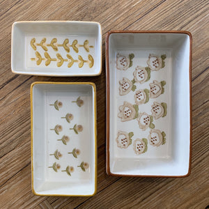 Stamped Stoneware Ramekins | Set of 3 available at Bench Home