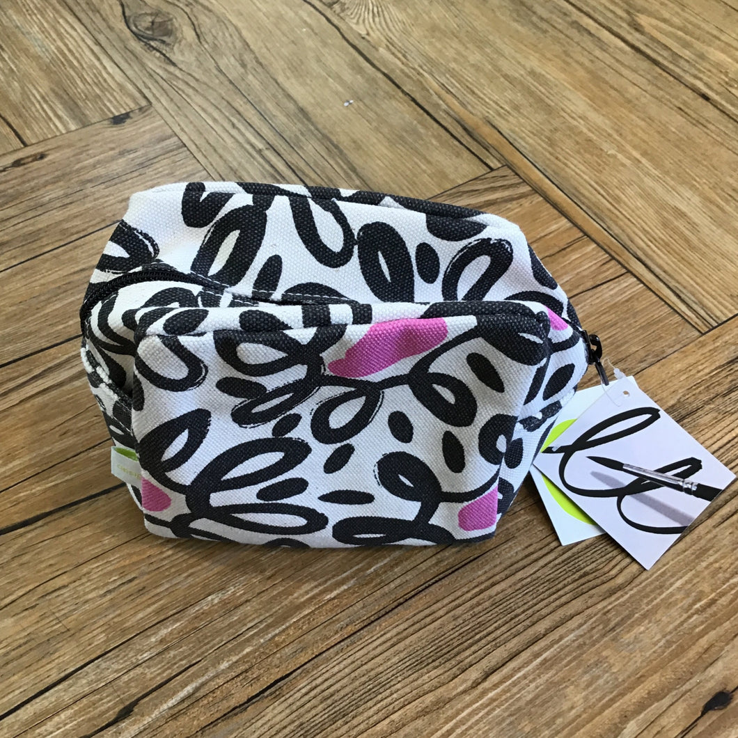 Pink & Black Cosmetic Bag