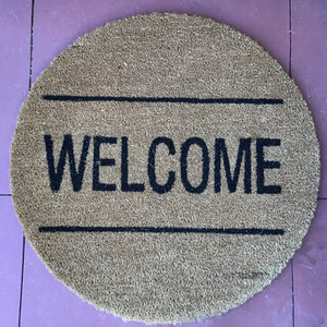 "Round ""Welcome"" Doormat available at Bench Home"