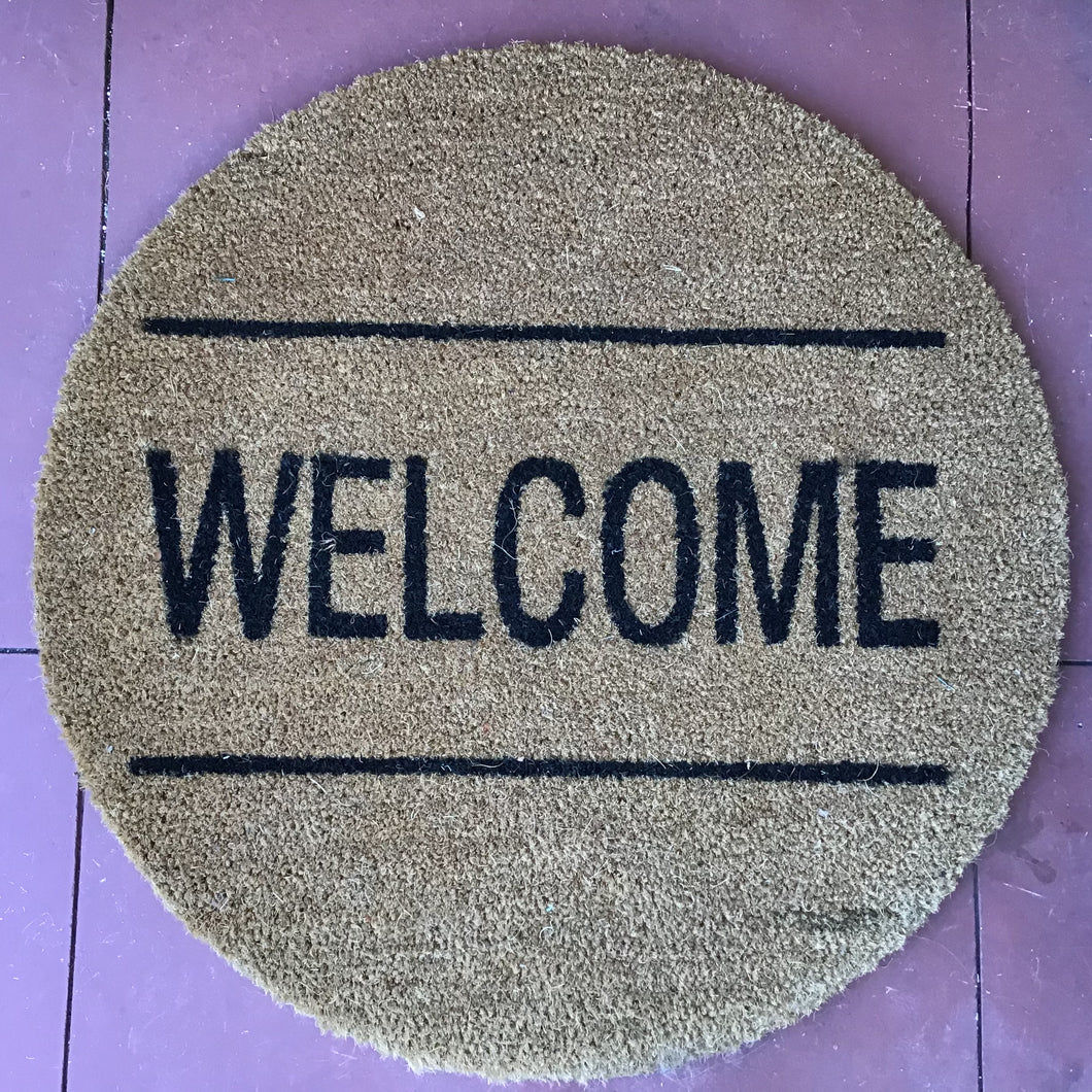 "Round ""Welcome"" Doormat"