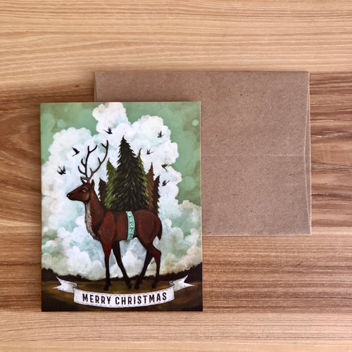 Christmas Elk Card