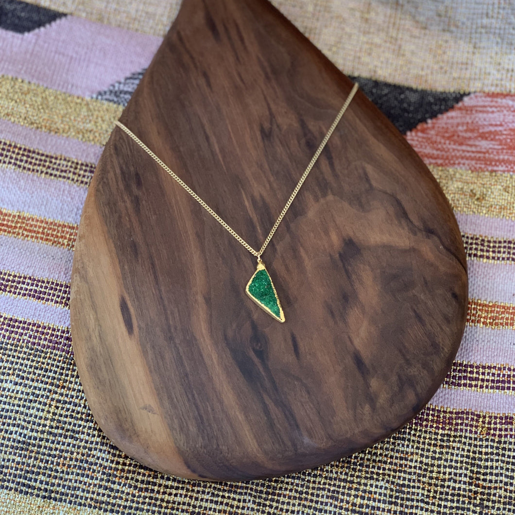 Gold Uvaorovite Necklace