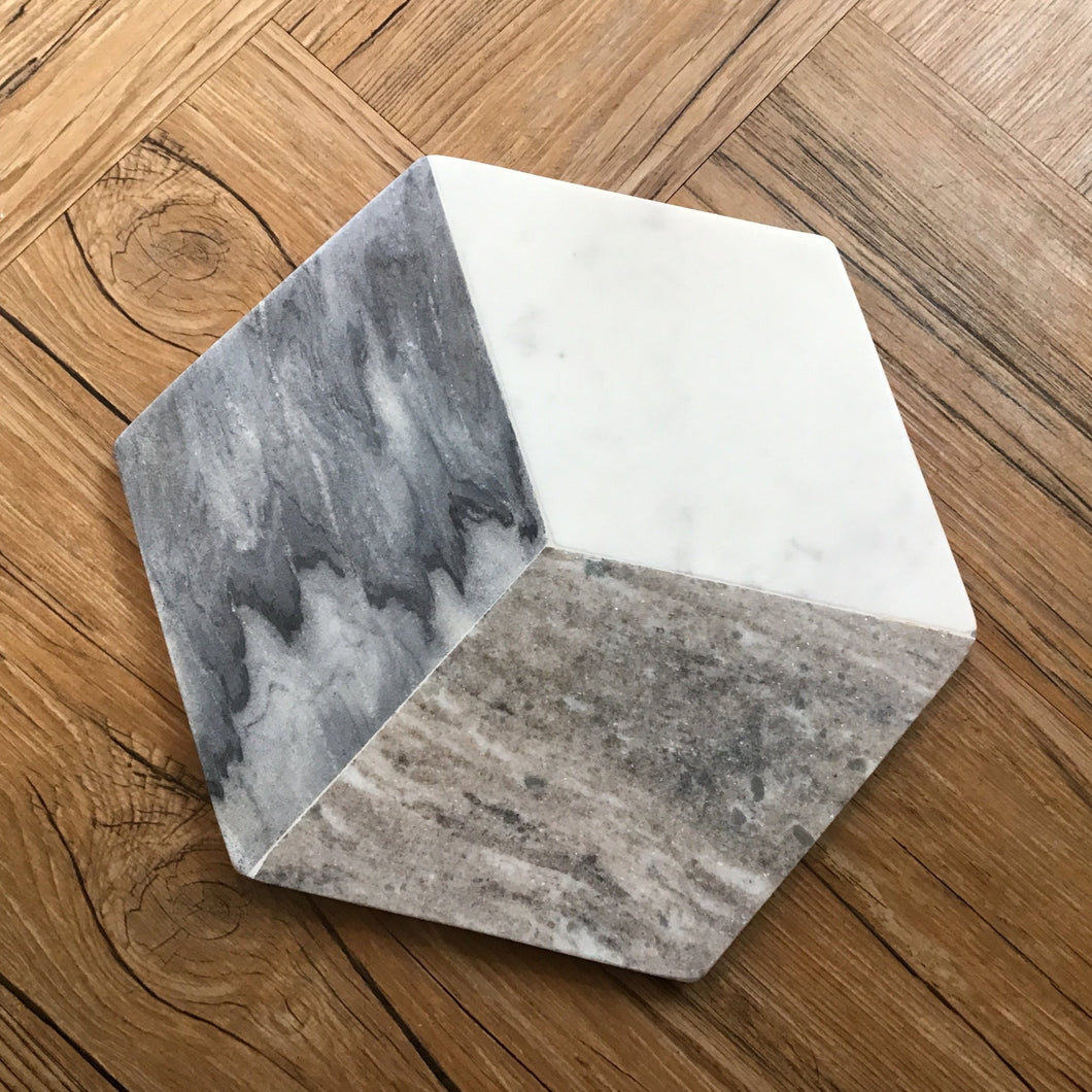 Hexagon Marble Cheese Board