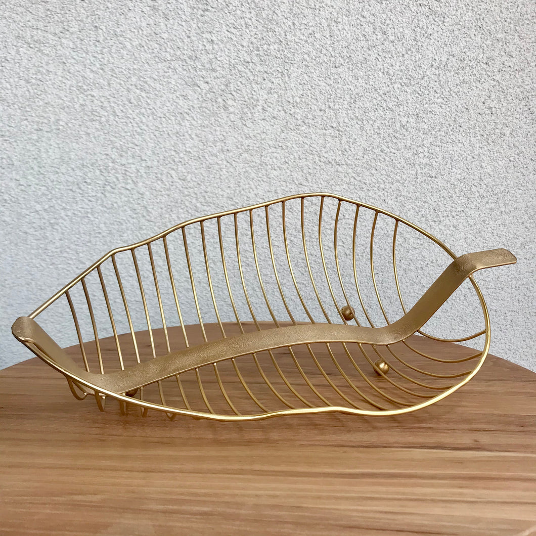 Banana Leaf Wire Fruit Bowl