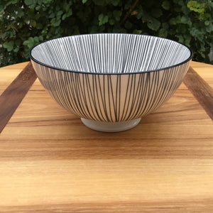 Kiri Black Lines Bowl | Medium available at Bench Home