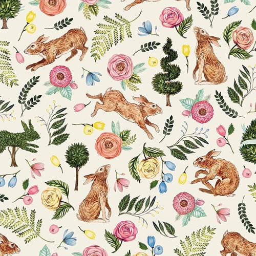 Bunny Garden Paper Placemats | Set of 24