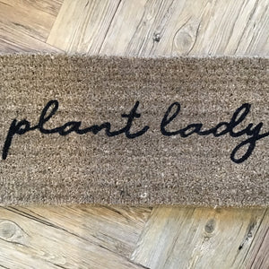 Plant Lady Doormat available at Bench Home