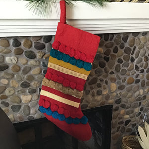 Wool Appliquéd Stocking | 2 Styles available at Bench Home