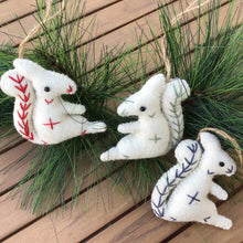 Load image into Gallery viewer, Wool Felt Squirrel Ornaments | 3 Colors