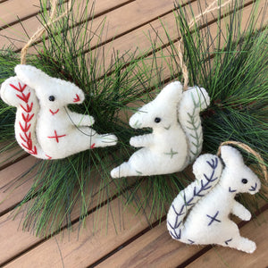 Wool Felt Squirrel Ornaments | 3 Colors available at Bench Home