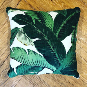 Banana Leaf Cushion available at Bench Home