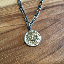Load image into Gallery viewer, Chunky Silver Coin Necklace