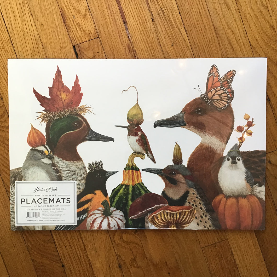 We Gather Together | Paper Placemats | Set of 24