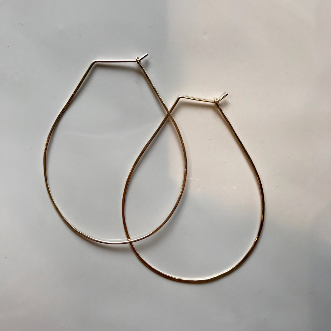 Pear Gold Earring