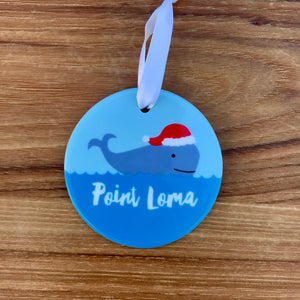 Holiday Whale Ornament available at Bench Home