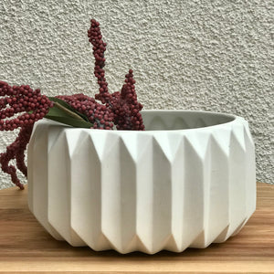 White Fluted Pot available at Bench Home