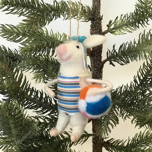 Felt Swimmer Gal Mouse Ornament available at Bench Home