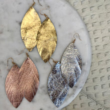 Load image into Gallery viewer, Solid Feather Earrings | 3 Colors