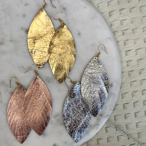 Solid Feather Earrings | 3 Colors available at Bench Home