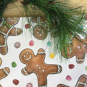 Gingerbread Men Paper Placemat | Set of 30 available at Bench Home