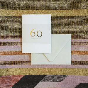 60 Milestone Birthday Card available at Bench Home